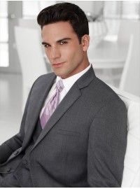 'Jean Yves' Ceremonia Steel Gray Notch Lapel Suit